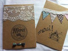 carte de remerciement mariage bapteme dentelle - Carte De Remerciement Mariage Pas Cher