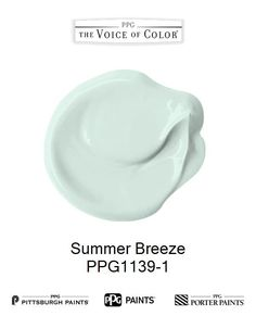 Summer Breeze is a part of the Greens collection by PPG Voice of Color®. Browse this paint color and more collections for more paint color inspiration. Get this paint color tinted in PPG PITTSBURGH PAINTS®, PPG PORTER PAINTS® & or PPG PAINTS™ products.