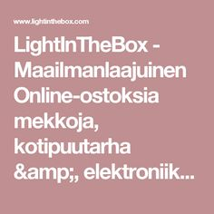 LightInTheBox - Maailmanlaajuinen Online-ostoksia mekkoja, kotipuutarha &, elektroniikka, häät vaatteet