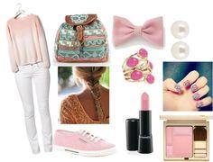"""pink"" by amandavrruiz on Polyvore"