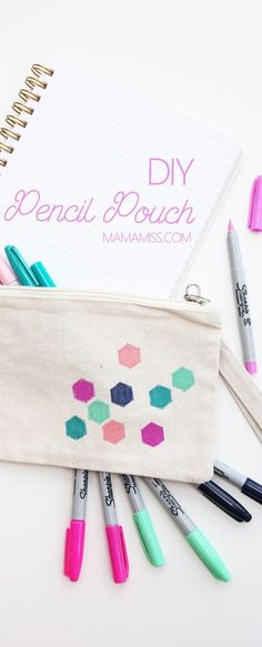 There are lots of ways to get ready for the new semester of school, restocking on new school supplies is one of them, making a fabulous DIY Pencil Pouch is another!  @staples #stockup4schools #Pmedia #ad