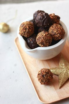 Truffes chocolat praliné cacahuètes  - Chocolate and Caramelized peanuts truffle The Happy Cooking Friends