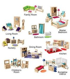 Dollhouse: Imagine My Place Wood Dollhouse Furniture and Miniatures, in Childs Room