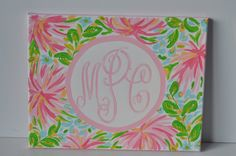 Lilly Pulitzer Inspired Painting by LittleBsArt on Etsy, $50.00