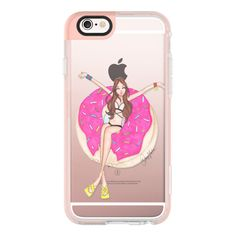 Donut Float - iPhone 6s Case,iPhone 6 Case,iPhone 6s Plus Case,iPhone... ($40) ❤ liked on Polyvore featuring accessories, tech accessories, iphone case, iphone cover case, clear iphone cases, iphone hard case, iphone cases and apple iphone cases