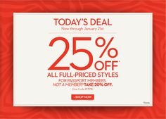 CHICOS--Deal of The Day: 25% Off!