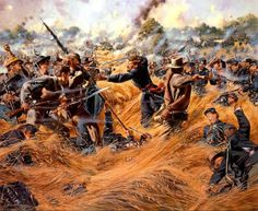 Saving the Flag by Don Troiani: The Wheatfield, Gettysburg
