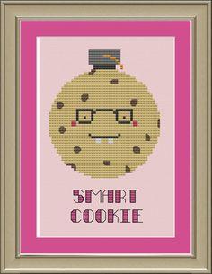 Smart cookie cute crossstitch pattern by nerdylittlestitcher, $3.00