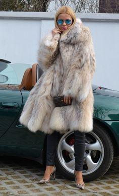 Swinger Lynx FUR Coat Cites Like Chinchilla Royal Mink FOX Sable Luchs Jacket   eBay