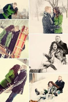 I would love to do a snow photo shoot! So cute and romantic great for engagement or family Fun FuN