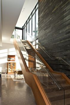 Architectural Materials // South Island Residence by KZ Architecture - bold slate stone wall » CONTEMPORIST