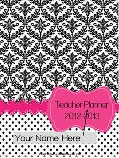 Teacher Planner! editable, very specific to teachers, common core at a glance, $
