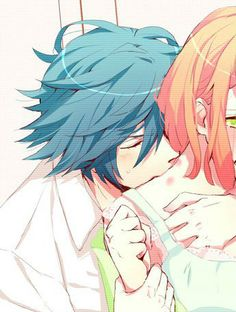 Anime Couples Drawings, Anime Couples Manga, Couple Drawings, Cute Anime Couples, Anime Guys, Manga Couple, Couple Art, Overwatch Mercy, Avatar Couple