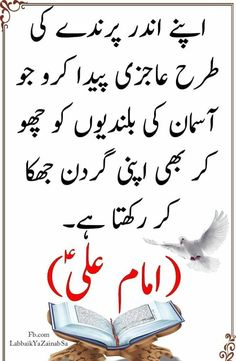 You are trying to Search best collection of Hazrat Ali Quotes images SMS ? Read Hazrat imam Ali A.S Quotes in Urdu. Hazrat Ali Sayings, Imam Ali Quotes, Quran Quotes, Islamic Inspirational Quotes, Islamic Quotes, Deep Words, True Words, True Quotes, Best Quotes