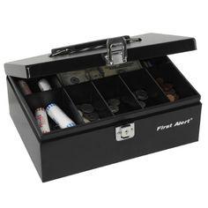 Best selling of First Alert 3020F Steel Cash Box, Black