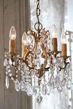 Vintage French cage chandelier