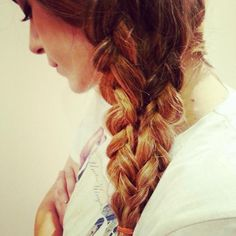 This double braid can be done with hair extensions that are 160 grams of hair volume or more. www.remyclips.com