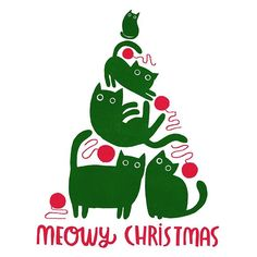 Angie Rozelaar ~ It's the most punderful time of the year! 🎶 Working on a design for my Christmas cards this year. Cat Christmas Cards, Christmas Drawing, Christmas Shirts, Christmas Humor, Christmas And New Year, Christmas Holidays, Little Christmas, Cat Cards, Quilted Wall Hangings