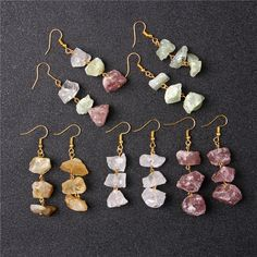 Colorful Stones Handmade Epoxy Resin Earrings Gifts for Her and Yourself The Romantic Universe