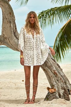 Devoted Women Summer Loose Blouse Cover Up Ladies Turn-down Collar Hollow Out Sarong Swimwear Kaftan Summer Beach Wear Lace Crochet Elegant And Sturdy Package Women's Clothing