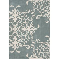 Louisa Blue Floral Hand-Tufted Area Rug