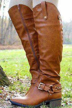 Summit Of Style Leather Long Boots