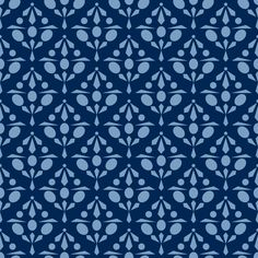 Blue on Blue Patterned Wallpaper | Pure Home