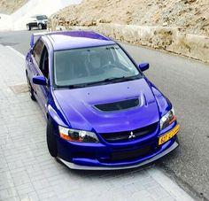 evo 9 - Mitsubishi Evo 9 Blue