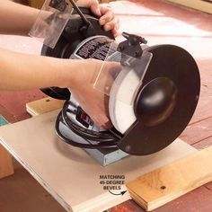 In-and-Out Bench-Top Tools Determine a base width you can use for all the smaller power tools you own—grinder, sander, drill press, scroll saw. Cut a base for each tool from 3/4-in. plywood with 45-degree bevels along both edges. Next, cut and screw 1-1/2-in.-wide boards with 45-degree bevels on your workbench for the tool bases to slide into.