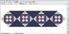 Click QUILT > New Quilt > On Point.  Click the Layout tab.  Under Select a style choose the layout style on the right. Number of blocks: Horizontal – your choice Vertical – 1 Block