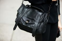 NYC Bag Stalking: The Coolest Carryalls On The Street. What's not to love about them