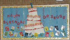 Dr. Seuss Bulletin Board Ideas   Dr. Seuss Read Across America Literacy and Reading Bulletin Board