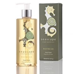 #Refresh #HandWash £16 contains 100% natural essential oils of  #JerseyLavender to soothe and calm,  #Lemongrass to tone and refresh, and  #Geranium to balance and cleanse the hands #Seascape