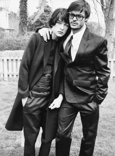 Milla Jovovich and Mario Sorrentiphoto by Bob Richardson