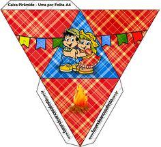 Caixa Pirâmide Festa Junina: