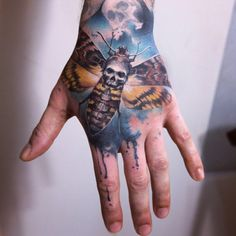 Skull Moth, Moth Tattoo, Cartoon Tattoos, Cartoon Design, Hip Hop Fashion, Animal Tattoos, Tattoo Inspiration, Hand Tattoos, Tattoo Artists