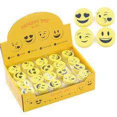Smile Radiergummi 4er Set im Display, Trendartikel aus Großhandel und Import