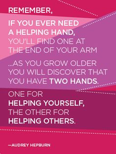 This is why I am researching volunteer opportunities, pay it forward, and help when I can.