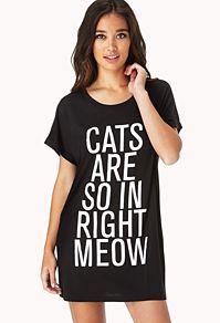 Cool Cat Sleep Shirt