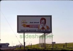 Slide-Photo-McDonald-039-s-Restaurant-Billboard-Ad-Outside-Sacramento-CA-1975