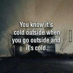 And today, I don't want to go outside.