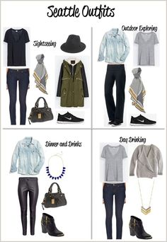 Seattle outfits - Women's Hiking Clothing - amzn.to/2h7hHz9 Women's Hiking Clothing - http://amzn.to/2hJYguZ