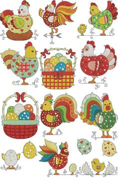 if only chickens would look like this, might not eat them. but these look yummy to. Machine Embroidery Applique, Applique Patterns, Applique Quilts, Applique Designs, Embroidery Stitches, Quilt Patterns, Chicken Crafts, Chicken Art, Chicken Quilt