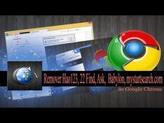 Remover Hao123, 22 Find, Ask, Babylon, mystartsearch.com do Google Chrome ~ CANAL FORADOAR