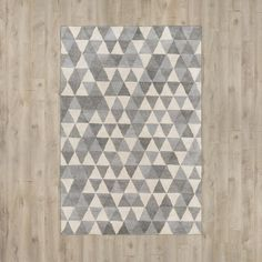 Hand-Tufted Light Gray/Charcoal Area Rug