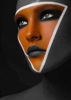 fancycolorart: Orange makeup
