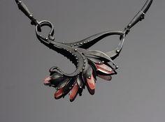 Rose Quartz  Mixed Metals Necklace - Katia Olivova Jewelry