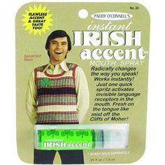 Gag Gifts - Instant Irish Accent Breath Spray by Blue Q