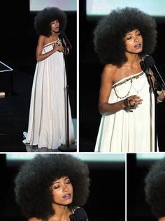 I'm in love with this dress.. she looks gorgeous THE HAIR!