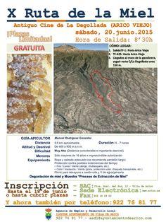 X Ruta de la Miel de la Villa de Arico. El sábado 20 de junio.
